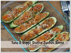 Create a healthy dinner in no time with #OceanNaturals ~ we made Tuna & Veggie stuffed Zucchini for Dinner #Recipe #Shop
