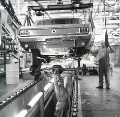 1964 Ford Mustang Factory Assembly Line.