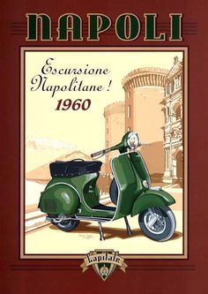 12332 - MOTORCYCLE - VESPA 1960  - Napoli Escurcione Napolitane