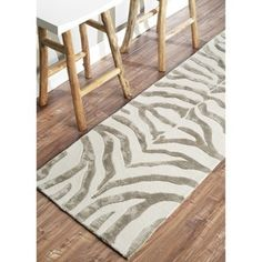 Shop for nuLOOM Handmade Zebra Ivory/ Grey Wool/ Viscose Runner (2'6 x 8'). Get free shipping at Overstock.com - Your Online Home Decor Outlet Store! Get 5% in rewards with Club O!