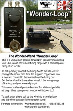 Wonder Wand's Wonder-Loop! 20M - 6M.  Might get good for simple portable use.
