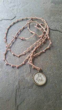 Long Beaded Crochet Necklace by KSDesignCo on Etsy https://www.etsy.com/listing/473019355/long-beaded-crochet-necklace