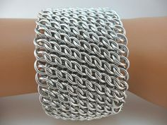 GSG Sheet Chainmaille Bracelet Bright Aluminum by TheArmorersWife