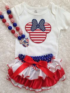 Minnie mouse/4th of july/First Birthday/Disney by BabyTrendzz,