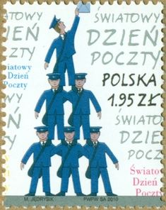 Stamps Polska 2010 - World Post Day - Stamp: Postmans (Polonia) Atari Logo, Postage Stamps, History, World, Poland, Stamps, Historia, Peace, The World