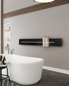 De Teso designradiator heeft een fraaie en minimalistische uitstraling, die ruimte en sfeer combineert met functionaliteit met design.