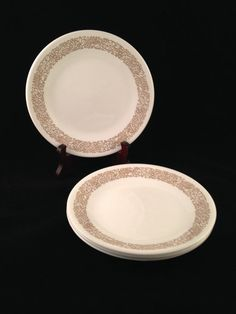 Corelle Woodland Brown Luncheon Plates Set of 8
