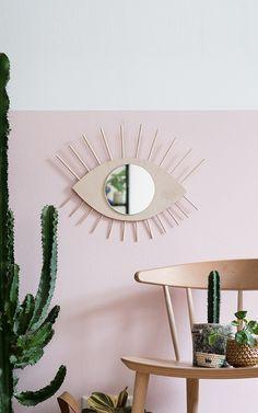 DIY wall mirror in eye shape - Givoya Sites