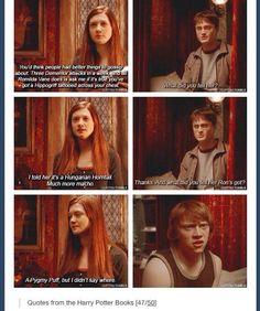 Book scene Ginny & Harry