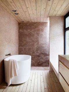 Mexico, a house in the wood by Tatiana Bilbao – gallery - Abitare Bilbao, Bathroom Trends, Bathroom Interior, Modern Bathroom, Gold Bathroom, Bathroom Niche, Bathroom Inspo, Bathroom Ideas, Interior Design Inspiration