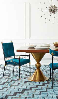 Dine in style (and comfort) with the Jonathan Adler luxurious Rider Arm Chair
