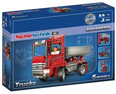 Fischer Technik Advanced Trucks trucks such as tippers, semitrailer tractors, trucks with cranes, container trucks or tow trucks can be constructed with this kit. The new fischertechnik design parts visually give the models a new and Container Truck, Painted Stools, Swivel Rocker Recliner Chair, Trucks, Mattress Brands, 7 Year Olds, Baby Boy Newborn, Surf Shop, Baby Clothes Shops