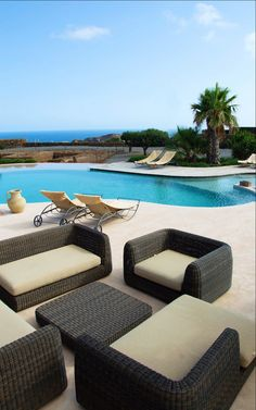 Swimming pool & relaxation area - Resort Acropoli - Pantelleria
