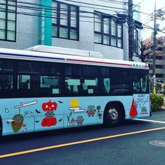 "502 Likes, 7 Comments - Yuko Shimizu (@yukoart) on Instagram: ""Even busses have characters on them. Characters on everything here. I can do up to a week and I'm…"""