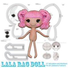 lalaloopsy doll patterns | Lala Rag Doll Pattern by QuirkyArtistLoft on Etsy