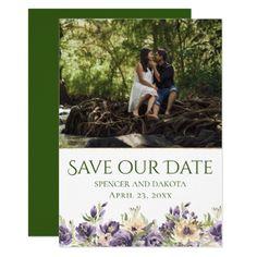 #BohoChic #RusticBoho Anemone Greenery Save the Date Floral Boho Wedding Card #eharmony