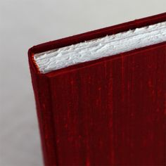 Rag & Bone Bindery's Blank Page Journal in cover option Red Rose