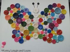 Button Butterfly  -Repinned by Totetude.com