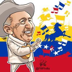 caricatura de simon Diaz -