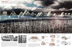 Winning entries for d3 Natural Systems 2015 First Prize: 'The Root' by Zhibin Li, Yifei Hu, Yuqing Shi, Zongmin Li, Juntong Zhang, Yan Li | CHINA