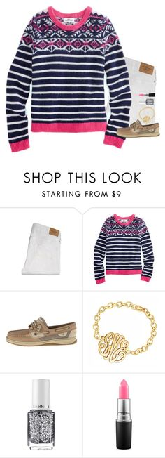 """""""Thank you so much for 1,500 followers!"""" by gourney ❤ liked on Polyvore featuring Abercrombie & Fitch, Vineyard Vines, Sperry Top-Sider, Essie and MAC Cosmetics"""