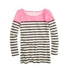 stripes... black and white... pink... what's not to love?