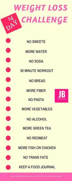 WEIGHT LOSS CHALLENGE Diet | Fitness | Weight Loss https://jbfitshape.wordpress.com/2017/05/01/2-week-diet-program/