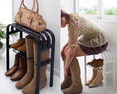 полка скамейка для хранения обуви