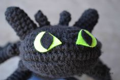 Crochet Toothless from How To Train Your Dragon, Over The Apple Tree