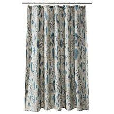 Threshold™ Ikat Mix Cool Shower Curtain
