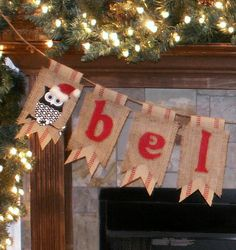 Christmas banner owls