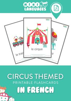 French for Kids - Circus Flashcards