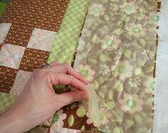 Machine Quilting with Golden Threads paper - Quilting Tutorial from ConnectingThreads.com