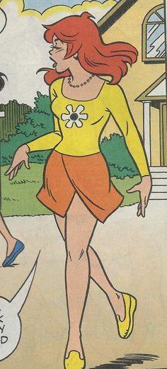 from Cheryl Blossom # 13. Vintage Pop Art, Vintage Cartoon, Vintage Comics, Retro Art, Cute Cartoon, Cartoon Art, Comic Books Art, Comic Art, Archie Comics Riverdale
