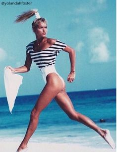 Vintage swim: Yolanda Foster, early '90s