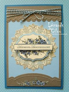 Beautiful.  (Pin#1: Anniversary...  Pin+:  Dies/Stamps: Stampin Up...).