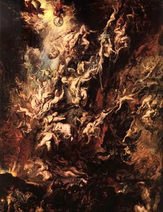 Peter Paul Rubens The Fall of the Damned, , Alte Pinakothek, Munich. Read more about the symbolism and interpretation of The Fall of the Damned by Peter Paul Rubens. Peter Paul Rubens, Rubens Paintings, Oil Paintings, Renaissance Kunst, Renaissance Paintings, Pierre Paul, Art Occidental, Baroque Art, Heaven And Hell