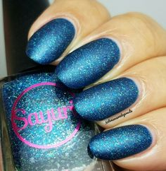Sayuri Nail Polish HHC custom Glacier Tears with matte topcoat