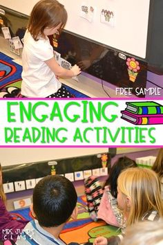 Engaging reading activities for kindergarten and first grade! See how we improve reading comprehension through various reading comprehension strategies. FREE sample file too!