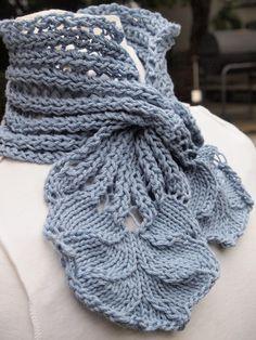 Hyacinth Rib Scarf PDF Hand Knitting Pattern by KnitChicGrace