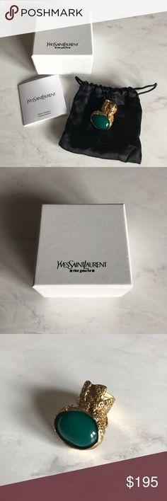 d2d25119130 Yves Saint Laurent (YSL) Arty Glass Ring Size 7 New in box Yves Saint