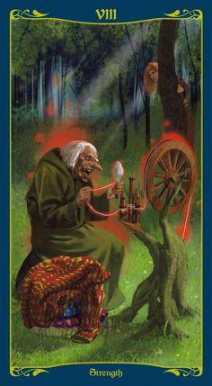 Strength - Tarot of the Celtic Fairies Strength Tarot, Tarot Cards, Fairies, Celtic, Irish, Painting, Art, Tarot Card Decks, Faeries