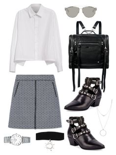 """""""Sin título #642"""" by bethsalash ❤ liked on Polyvore featuring Botkier, Tory Burch, Y's by Yohji Yamamoto, Yves Saint Laurent, McQ by Alexander McQueen, Christian Dior and Longines"""