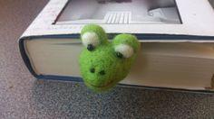 Bookmark frog needle felted green gift under 25 by FeltedByRikke, $24.75