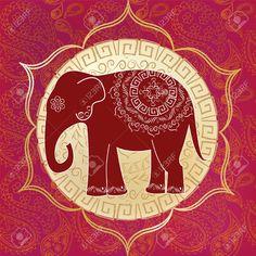 elefante indiano desenho colorido - Pesquisa Google