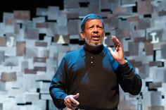 "Production still from True Colors Theatre's 2014-2015 season production of August Wilson's ""How I Learned What I Learned"" starring Eugene Lee.  Photo Credit: Josh Lamkin"