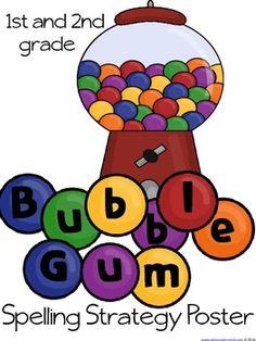 Strategy Poster - Bubblegum spelling!