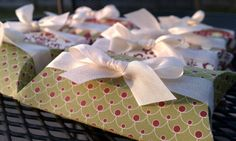 Elegant Christmas Favor Boxes with Candy  Set by KLundquistDesigns, $16.00