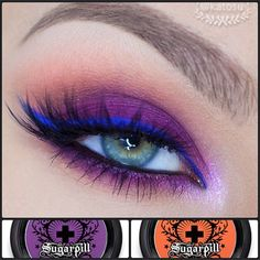 KatOsu featuring Sugarpill Poison Plum and Flamepoint eyeshadows with ChaosMakeupArtist highlight!