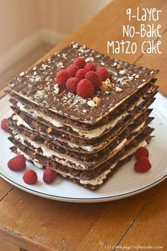 9-Layer No-Bake Matzo Cake ...get the #passover #recipe at www.cookingontheside.com